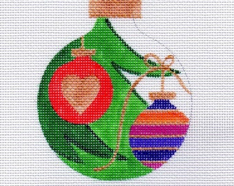 Christmas Tree with Ornaments - Needlepoint Ornament - Jody Designs      B180