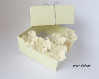 Ivory Hydrangea Hair Pins (set of 6), Ivory Wedding hair accessories, Bridal hair flowers, flower pins, hydrangea hair clip, NOT FRAGILE!
