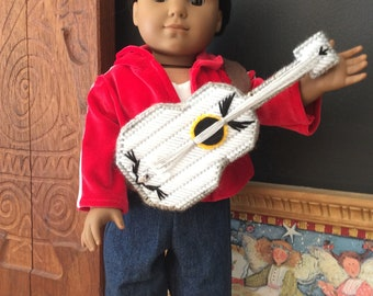A fun Miguel outfit inspired by Coco for an 18 inch doll such as American boy and the like size