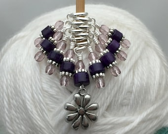 Flower Stitch Marker Set | Snag Free Knitting Markers | Gift for Knitters