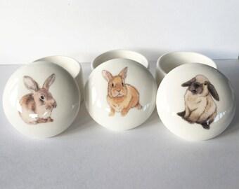 Small Rabbit Trinket Box