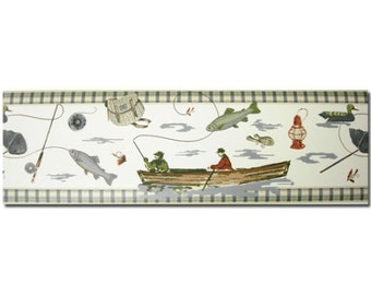 Fishing Fish Theme Prepasted Wall Border