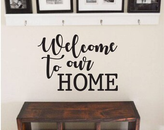 Rustic Wall Decal Etsy - Wall decals entryway