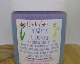 EMULSIFIED SUGAR SCRUB / The Paradise / Gifts for Her / Bridesmaid Gift Idea / Sugar Scrubs / Exfoliating Scrubs / Artisan Gifts