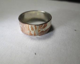 ring, size 6... Mokume Gane'