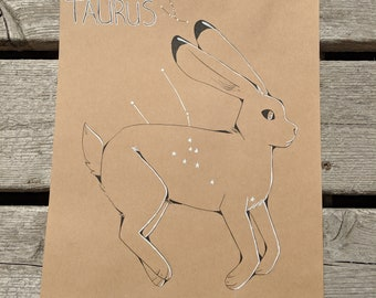 Taurus Jack Rabbit Constellation Original