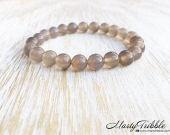Agate Bracelet, Stackable Bracelets, Crystal Bracelet, Healing Crystal Jewelry, Gemstone Bracelet, Stone Bracelet, Mala Beads Bracelet
