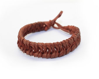 Negril - Hand  Plaited Real Leather Bracelets