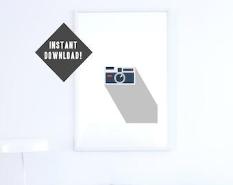 Camera - Minimal Art   INSTANT DOWNLOAD