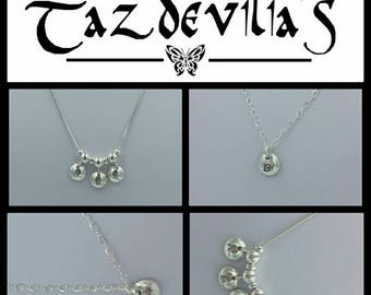 Handcrafted Solid 925 Sterling Silver Personalised Domed Initial Necklace - choose your letters
