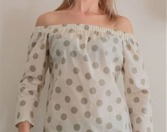 Italian Haute couture cotton shirt