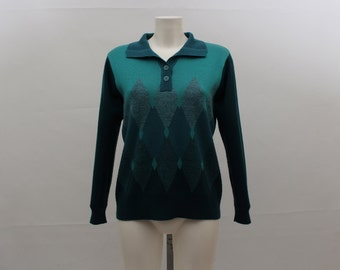 Vintage Jumper • Vintage Sweater • Vintage Pullover • Women's Jumper • Women's Sweater • Jumper • Green Jumper • Green Sweatshirt