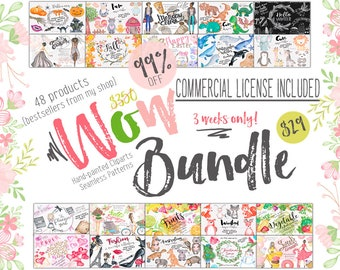 Spring  Clipart, Watercolor, Hand-painted Clipart, Digital Paper Sale, Commercial Use Clipart, Diy Planner, Planner Graphics, Planner Paper