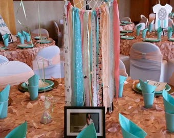 Dream Catcher, Coral, Mint and Aqua Dreamcatcher for Baby shower, Birthday or Bridal Shower.  Custom Colors and Themes Available