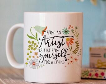 Artist Coffee Mug - Unique Coffee Mug - creative coffee mug