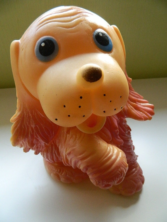 Big Lovely Vintage Rubber Dog from USSR Soviet Toy