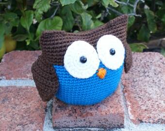 Crochet Pattern-- Roly Poly Owl Amigurumi --Crochet Pattern