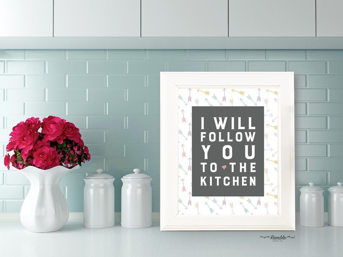 Kitchen Quote Art Kitchen Decor Wall Art Print Digital