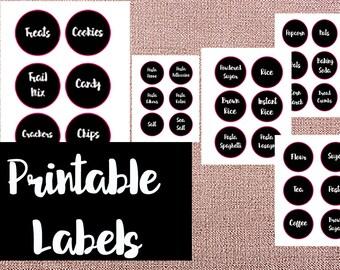 Digital Download, Pantry Labels, Printable Pantry Labels, 42 Digital Pantry Labels, Instant Download