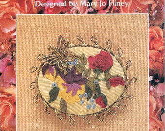 """Creative Beginnings - Silk Ribbon Embroidery Kit  - """"Butterfly's Delight""""  by Mary Jo Hiney"""