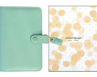 SPECIAL!  Webster's Pages Color Crush Binder Sky Blue or Mint Green