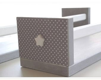 Customized polka dots bookcase