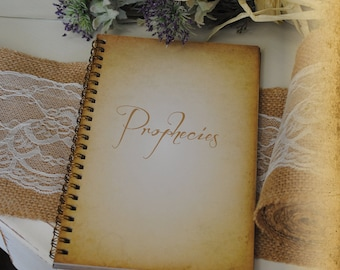 Journal, Writing Journal - Prophesies, Custom Personalized Journals Vintage Style Book