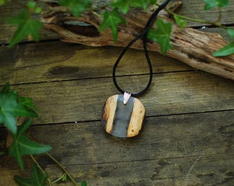 Resin Pendant, Nature Jewelery, Wood Pendant, Fairy Necklace, Forest Jewelry