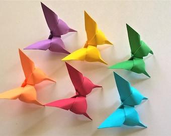 papillons en origami 100 en couleurs de l'arc-en-ciel