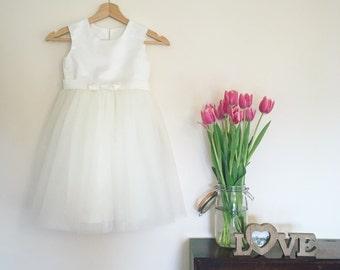Mini Spot Tulle Flower Girl Dress