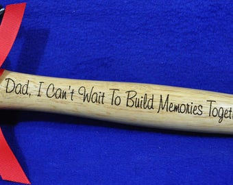 Gift For Husband ~ New Dad Gift ~ Birthday Gift For Dad ~ Dad Gift ~ Step Dad Gift ~ Engraved Hammer ~ Father's Day Gift ~ To Dad From Baby