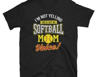 Women's Softball Mom Voice Softball Mom T Shirt Gift For Softball Mom