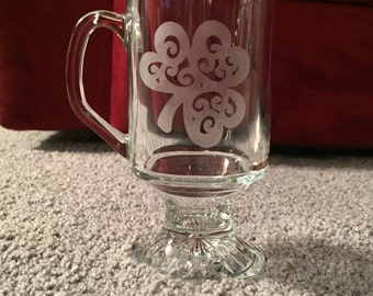 Etched Irish Coffee Mug