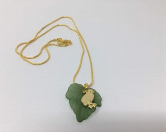 Happy baby chick necklace