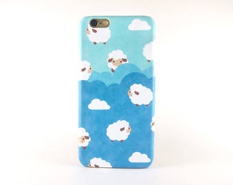 Sheep iPhone case, iPhone X case, iPhone 8 Plus case, iPhone 8 case, iPhone 7 case, iPhone 7 Plus case, iPhone 6S case, iPhone 6S Plus case
