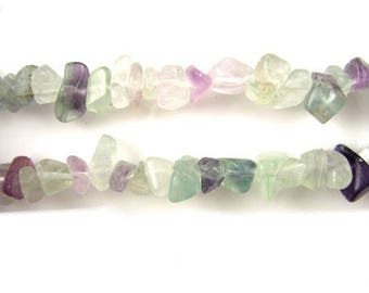 25 x Rainbow fluorite chips