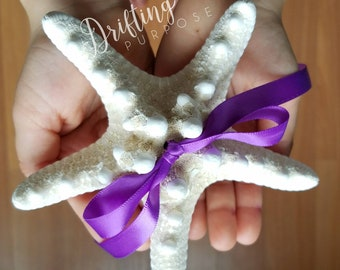 Natural Knobby Starfish Ring Pillow, Beach Wedding Decor, Starfish Ring Bearer Pillow Alternatives, Beach or Coastal Wedding Proposal