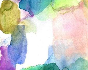 Large Art Print, Watercolor Painting, Clarity