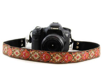 Rose Baroque Bohemian   Camera Strap