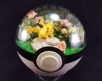 Pikachu Pokemon Diorama (Paradise Ball) Garden