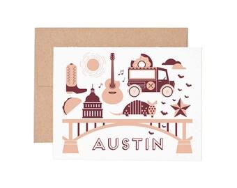 Austin Letterpress Greeting Card - Blank Card | Greeting Cards |