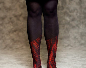 tie dye tight - red and purple