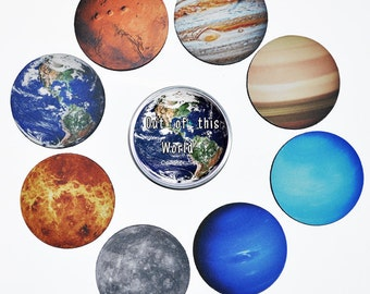 Solar System Drink Coaster Set The Planets 8 Coasters Drink Coaster Set with Gift Tin