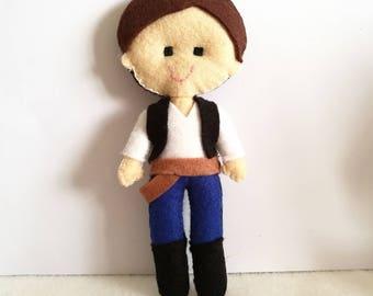 Star Wars Han Solo inspired felt doll