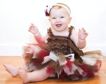 "Maroon Fall outfit ""Zara"" baby Thanksgiving tutu outfit first Thanksgiving outfit baby girl fall tutu Thanksgiving tutu outfit newborn tutu"