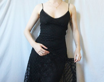 90s Betsey Johnson Black Lace Dress XS