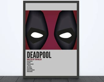 Deadpool Inspired Print / Marvel / Alternative Movie Poster / Gift