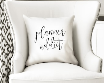 Planner addict pillow cover, stationery and sticker lover gifts