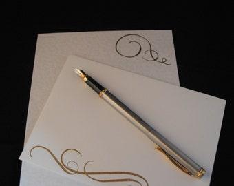 Swirl Design Hand Stamped Writing Set