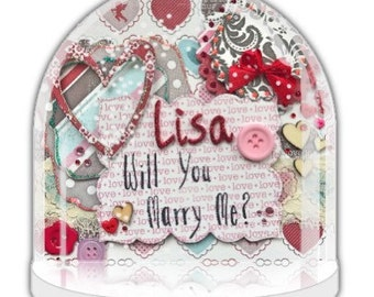 Will you marry me, marry me ornament, Personalised proposal for wedding, marriage, Valentine day proposal, getting married, engagement gift